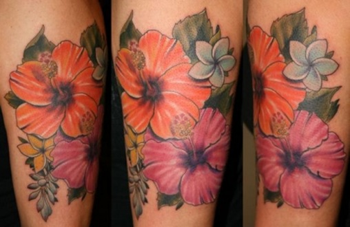 24 Hibiscus Flower Tattoos Designs Trends Ideas: Popular Heart And Flower Tattoos Among Women