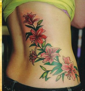 Popular Heart and Flower Tattoos Among Women